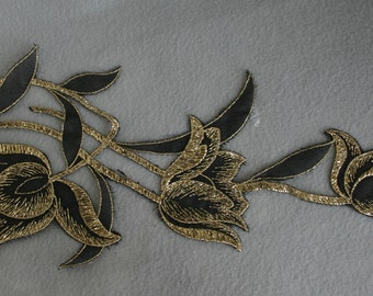 Delicate Gold and Black Applique