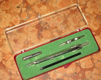 Germany Small Drafting Set Original Case Unknown Maker! #BV