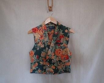 Ralph Lauren Cabbage Rose Vest