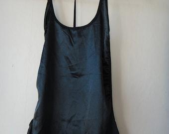 Vintage 90s dress SATIN black Halter 1996