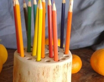 Wooden pencil holder-hand crafted