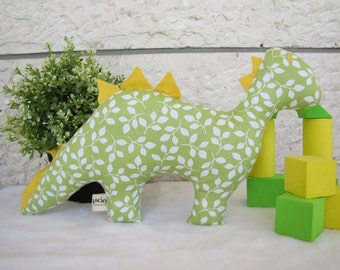 Handmade dinosaur toy, pillow,baby gift,handmade,kids room, home decor, can be personalized, girl,boy