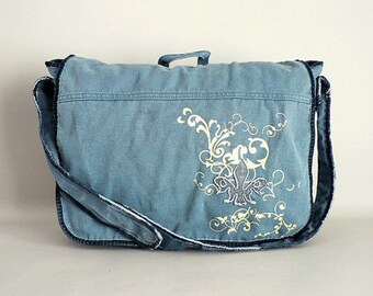 Womens Canvas Messenger Bag Purse