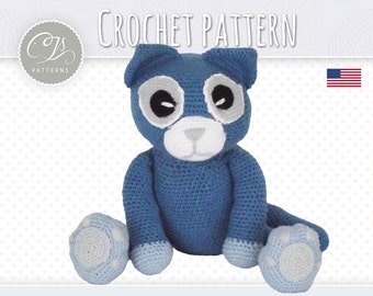 Amigurumi Pattern, Cat, Stuffed Animal Crochet Pattern