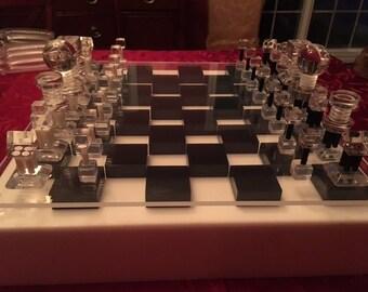 Lucite Chess Set
