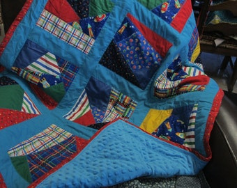 Baby Crazy Quilt in Primary School Colors