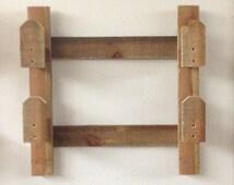 Rustic Gun Rack - Wooden Gun Rack - Rustic Wall Mounted Gun Display