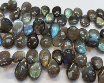 "Labradorite  Smooth Pear Briolette,  Big Size Approx 10x15 MM , 8"" Strand"