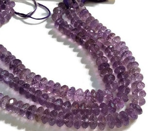 """11MM Amethyst Faceted Roundel Beads , Length 15"""" Big size Beads"""
