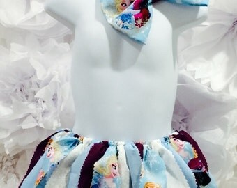 Frozen Scrappy Tutu, Frozen,Birthday's, Party, Ready to ship SIZE 3-4