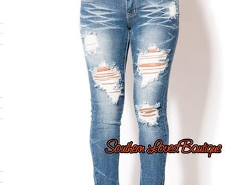 ON SALE!!! Distressed Skinny Jeans Womens