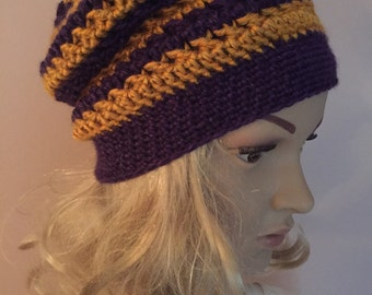 Slouchy Hat - Striped and Bright
