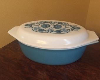 Blue Horizon Pyrex Casserole Dish
