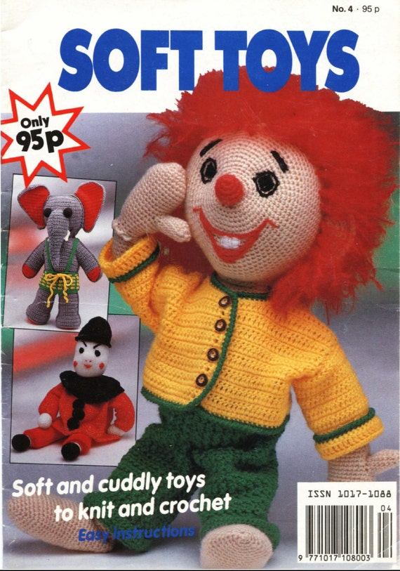 Vintage soft toys patterns knitting pattern by jockspatterns