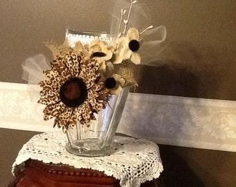 Handmade decorated vase