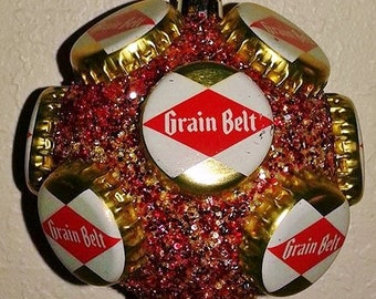Grain Belt Christmas beer cap ornament