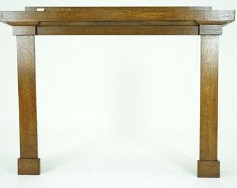 C2637 SALE! Antique Mission Style Arts & Crafts Oak Fireplace Surround Mantle