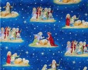 Nativity, Quilt or Craft Fabric, Fabric