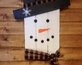 Primitive/Rustic Snowman