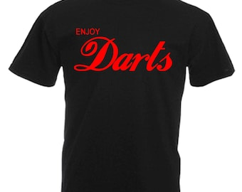 Love Darts Gift Adults Mens Black T Shirt Sizes From Small - 3XL