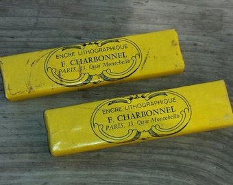 Ink lithographic François Charbonnel 2 closed packages vintage