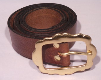 Quality Ladies Leather Jean Belt for Inch and Half Strap - Purchase from online shopping, eBay, Amazon, BuckleMyBelot.com Waist Size