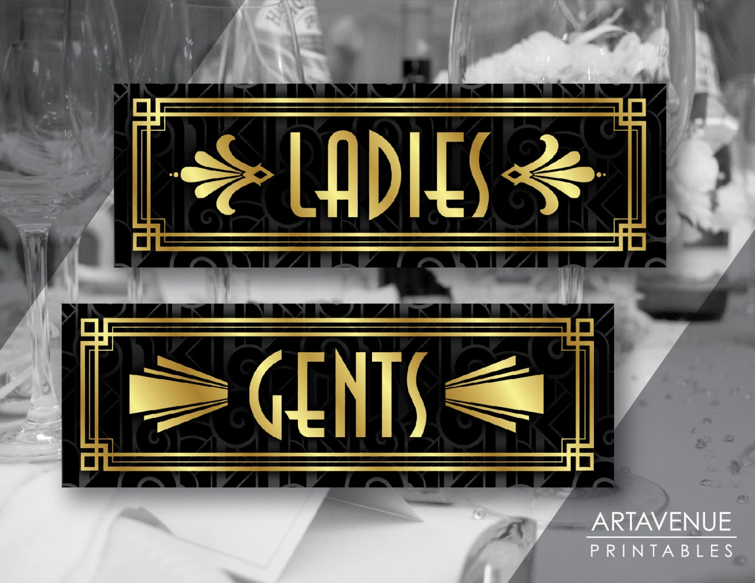 Bathroom Sign Art printable art ladies and gents signs