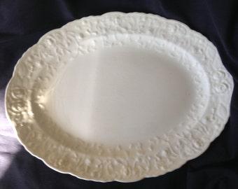 Vintage Pope-Gosser Rose Point by Steubenville Large Platter
