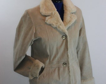 Suede Leather Gloria Vanderbilt Winter Coat