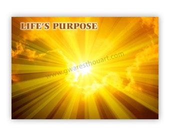 Life's Purpose greeting card