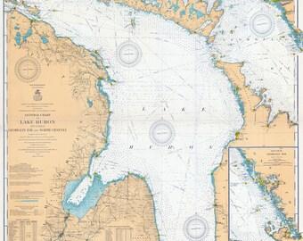 1910 Nautical Map of Lake Huron and Georgian Bay