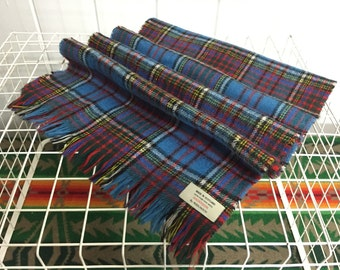 70's vintage wool muffler plaid made in scotland wrap