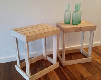 Handmade beach house side tables | occasional tables