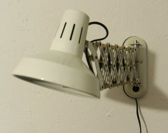 60s scissors lamp in white