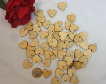 Balanced heart 1.5 cm, 100 pieces, table decorations as a scattered part of DIY crafts scrapbooking wedding decoupage