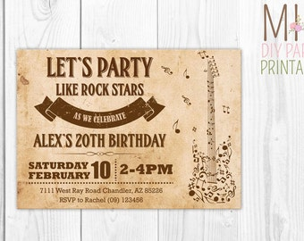 Music Invite 3,Music Party Invitation, Musical Instruments Party, Dance Party Invitation,musical,music,instrument invite,music card