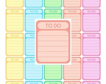 Rainbow Full Box Planner Stickers Printable To Do Stickers Full Box Stickers To Do Printable Planner Stickers To Do Printable Stickers To Do