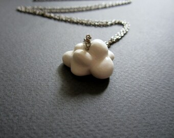 Cloud. Necklace. Free shipping.