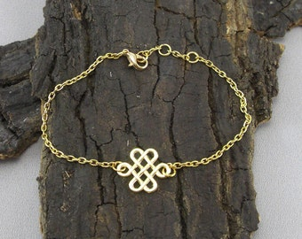 Celtic knot gold love knot bracelet