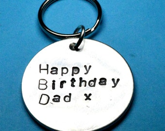 Dad gift, Dads Birthday gift, Fathers gift, Gifts for dad, gift for father, Dads keyring,Gift ideas for dad, father keychain ,Handstamped UK