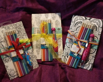 Cute Coloring Journal Gift Set