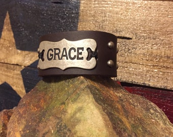 Custom Leather Wrist Cuff