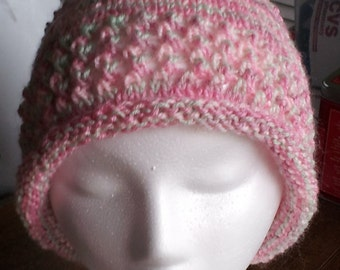 Variegated pink hat, lightweight