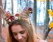 Mystical Satyr Horns Headpiece