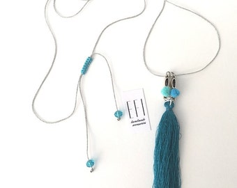 Silver Tsarouhi Necklace by EFI