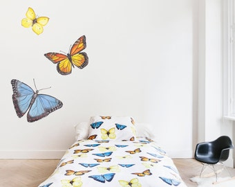 Butterfly bedding single bed
