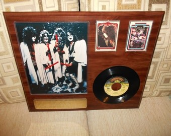 KISS, vintage hand made plaque, FREE SHIPPING!!!
