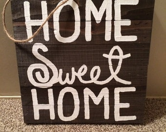 "Wooden Canvas ""Home Sweet Home"""