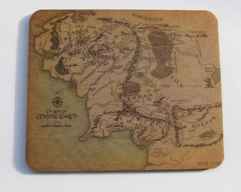 Middle Earth Mousepad, Tolkien Map of Middle Earth Mousepad