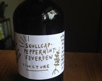 Skullcap Peppermint Feverfew Headache Tincture *NEW*